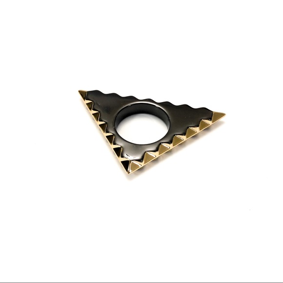 House of Harlow 1960 Jewelry - House of Harlow Gunmetal Triquetra Ring